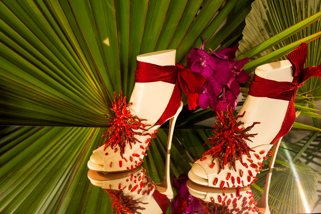 Aquazzura sandalias tacón coral